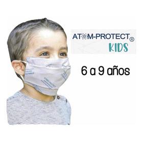Barbijo Social Atom-protect Kids 6 A 9 Años Conicet Niños