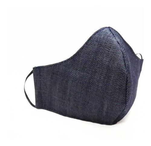 barbijo tapaboca de tela reutilizable jean diseño