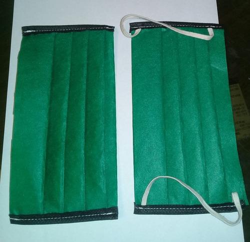 barbijo tapaboca doble capa polyester 90gr (180grs) lavable