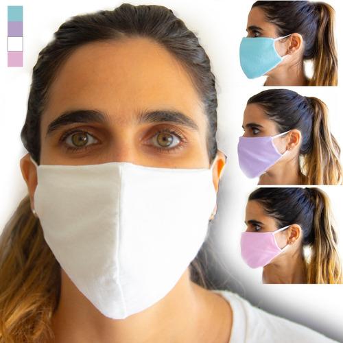 barbijo x 12u - reutilizable 100% algodon bolsillo p/ filtro