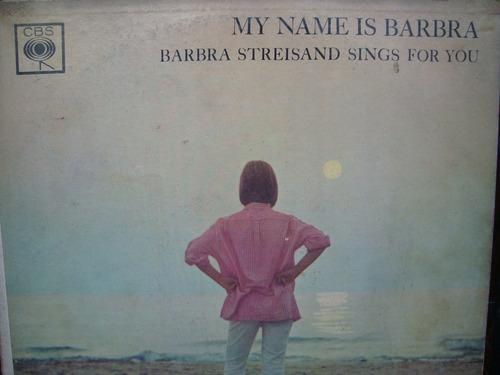 barbra streisand - my name is barbra - vinilo