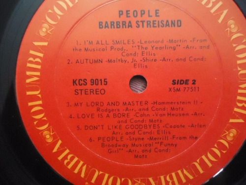 barbra streisand / people vinyl lp acetato