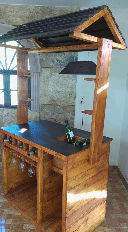 Bar cantina madera reciclada con techo 4 en for Bar de madera mercadolibre