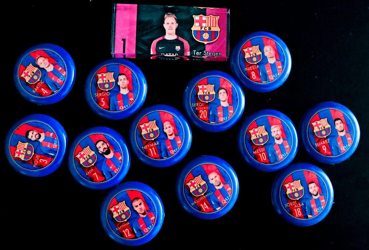barcelona 2016 17 futebol de botão 12 jogadores. Carregando zoom. bed7e20f5bd19