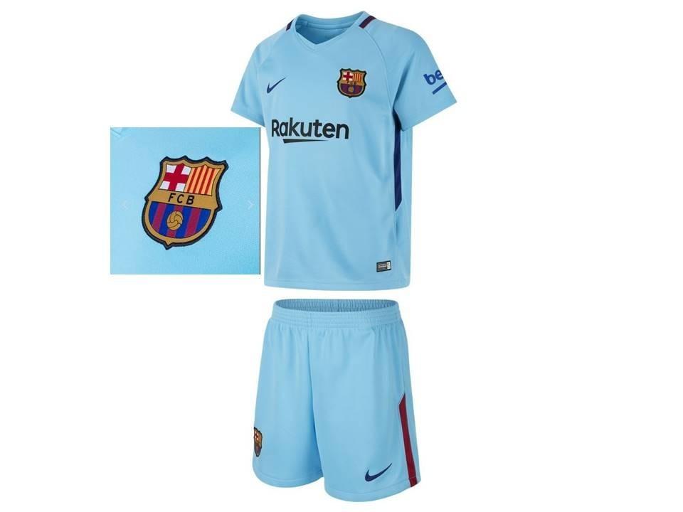 972b3c8f9 barcelona infantil kit camisa shorts uniforme nike original. Carregando zoom .