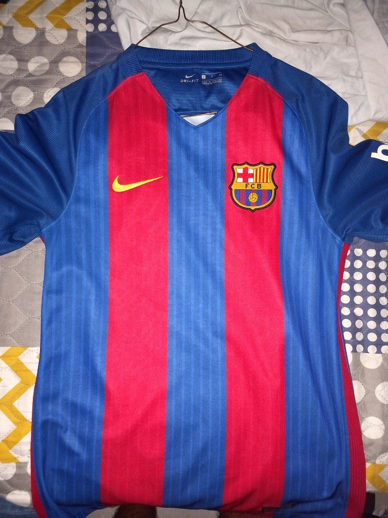 Barcelona Jersey   Playera 2016 Talla S Original -   549.00 en ... a5aa8cb1239ee