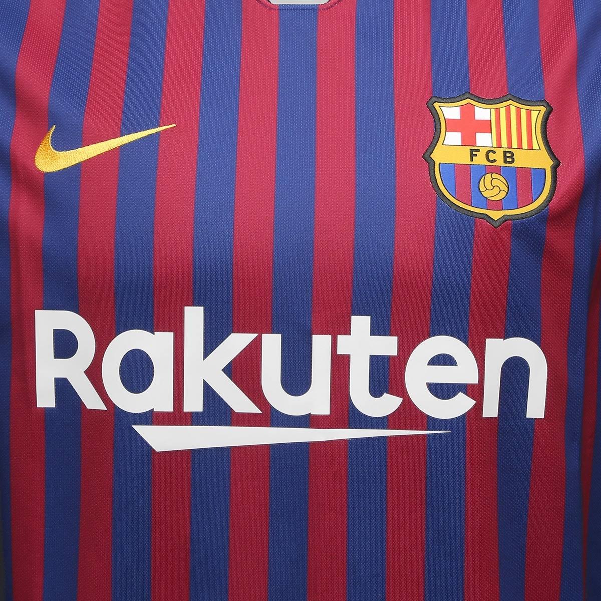 275650f652 Carregando zoom... camisa barcelona home 2018 s n° torcedor nike masculina