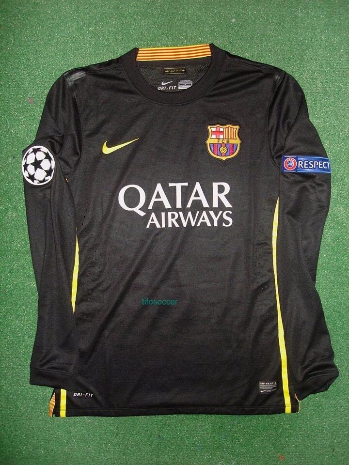 4f8b0f0858 Barcelona Preta M. Longa - De Jogo - Neymar  11 - 2013 2014 - R ...