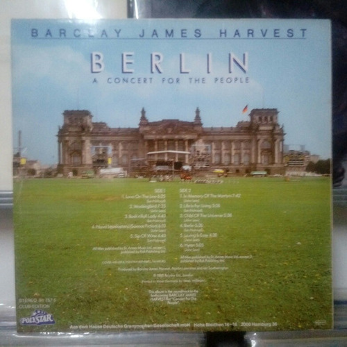 barclay james harvest- berlin a concert for the people 1982