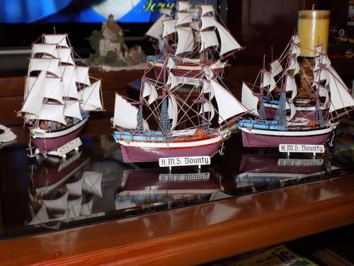 barco a escala hms bounty, 1/110. armado y detallado.