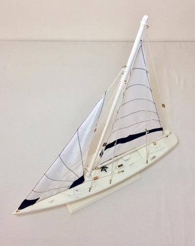 barco a vela - 60 cm decoração veleiro miniatura em madeira