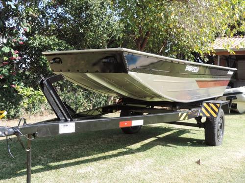 barco alumínio chata 3,30 mt pesca e recreio