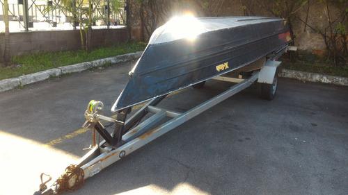 barco aluminio com carreta 2014 ambos/borda baixa novo top !