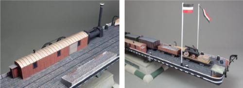 barco balsa transporte ferrocarril 1800 (armar en papel)