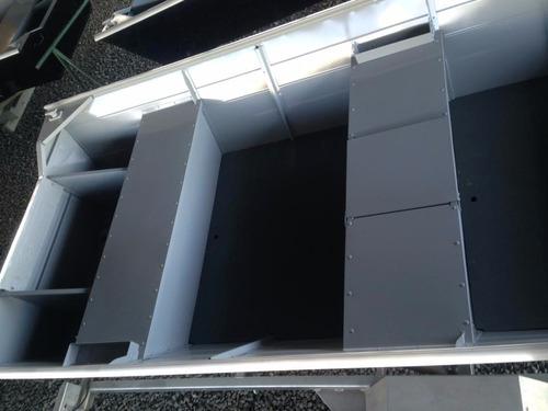 barco bateira alumínio semi chata macar 500 5 metros - nova