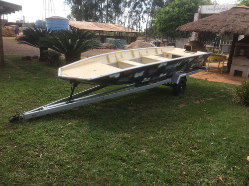 barco black bass 5,55m, motor 40hp super mercury, carreta