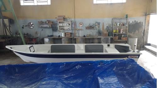 barco bote fibra pesca 5,30 borda alta artsol 40 anos fabric