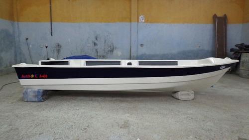 barco bote fibra vidro pesca 4.30 artsol 40 anos fabrica