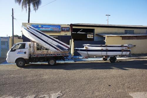 barco bote lancha fibra pesca 5,60 borda alta artsol fabrica