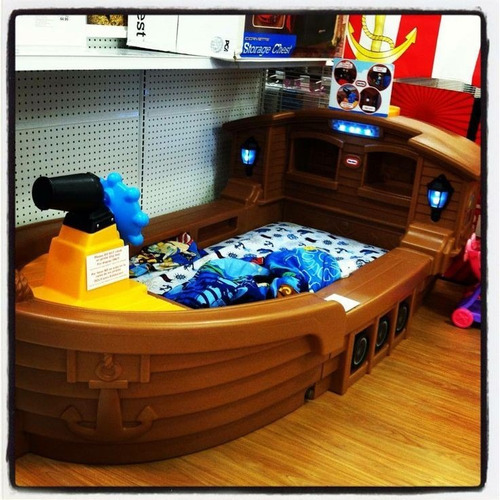 barco cama pirata para niños exclusivo-importado