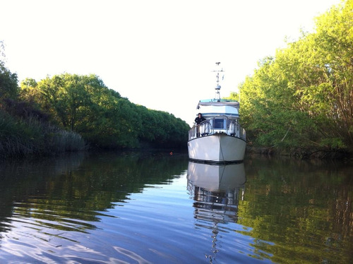 barco de acero naval trawler 40 pies (2) perkins 140hp