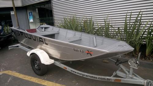 barco de alumínio 3,50 metros meia quilha