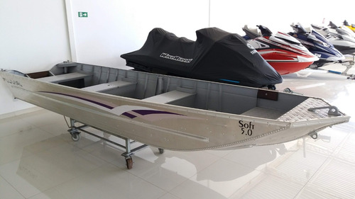 barco de alumínio 5m fluvial novo