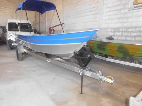 barco de aluminio 6m com carreta e yamaha 25 2t