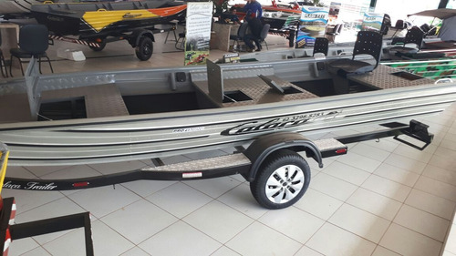 barco de alumínio calaça  flashbass profishing 550