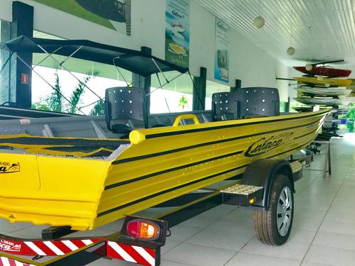 barco de alumínio calaça  gran flash bass 550
