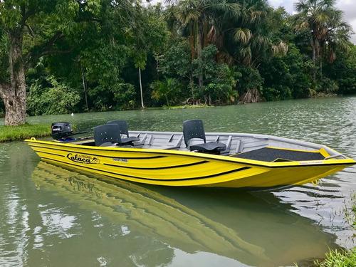 barco de alumínio calaça  gran flash bass 600