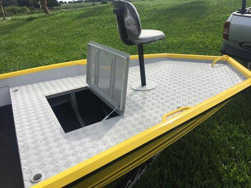 barco de alumínio calaça granflash pro fishig 600.