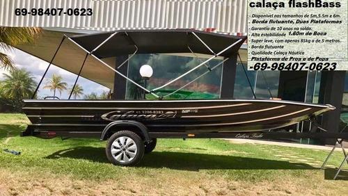 barco de alumínio calaça mod flash bass 600 de 6 metros