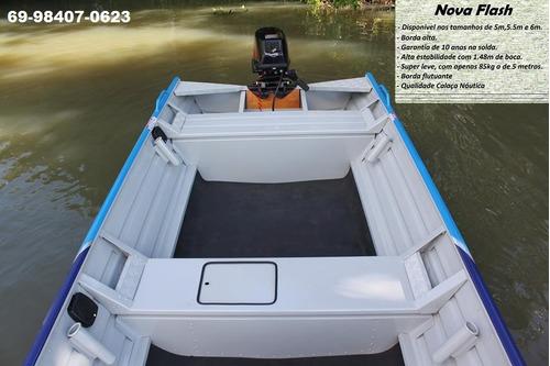 barco de alumínio calaça mod nova flash 500 de 5 metros