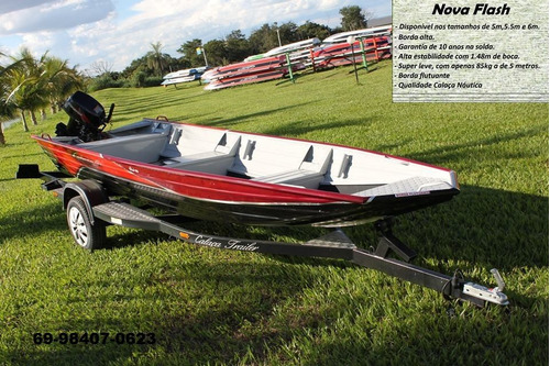 barco de alumínio calaça mod nova flash 600 de 6 metros