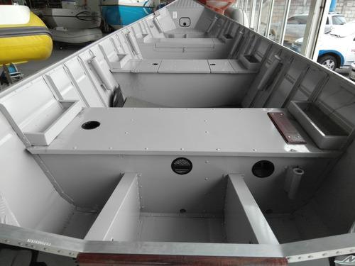 barco de aluminio dourado 600