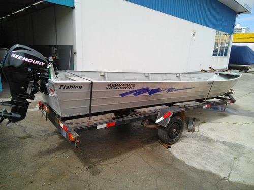 barco de aluminio fishing shark 600