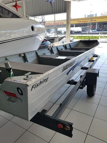 barco de alumínio fishing shark 600