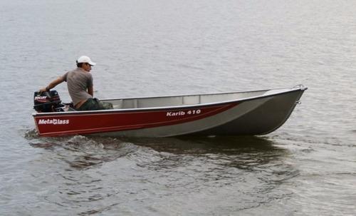 barco de alumínio karib 410