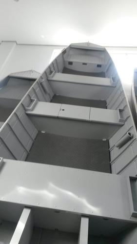 barco de alumínio meia quilha hp 5 mts ano 2018