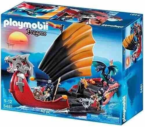 barco de guerra do dragão playmobil 5481 original - completo
