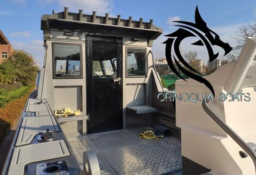 barco de pesca con cabina de aluminio de 7,5 m