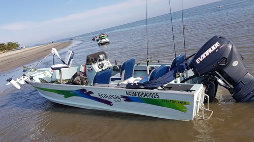 barco ecologia luxo spectro mar 50 hp evinrude