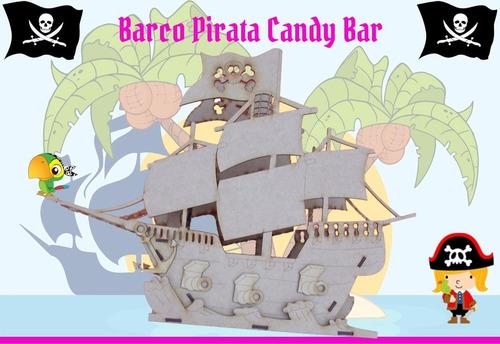 barco galeon pirata candy bar fibrofacil