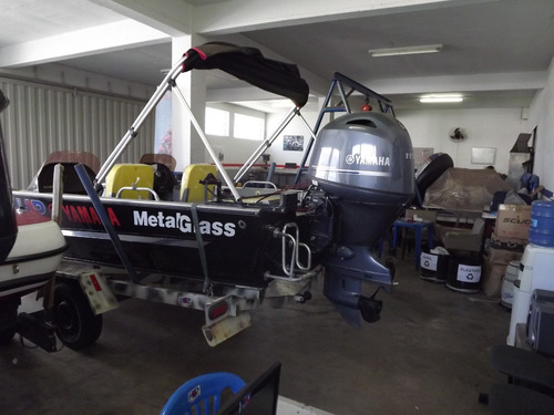barco grand fish metal glass 6.0 m com motor yamaha 115 hp