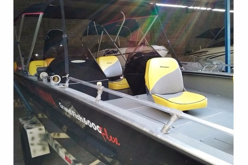 barco grand fish metal glass 6.0 m com motor yamaha vmax 150