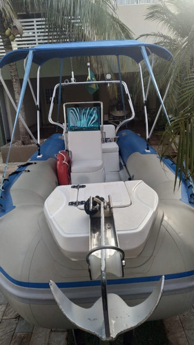 barco inflável nautika 4.5