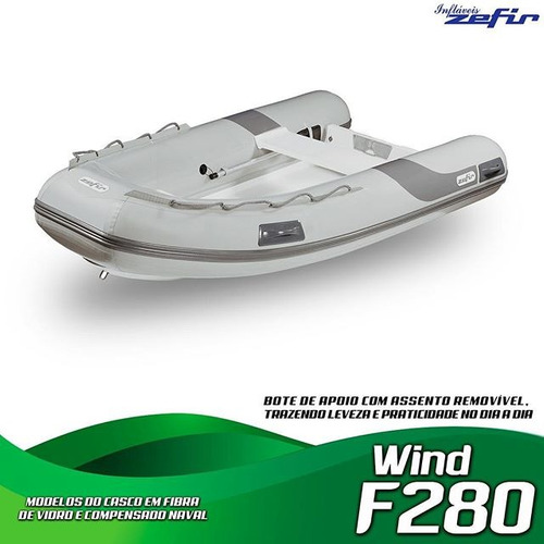 barco inflavel zefir f280 fundo fibra 0km miami nautica