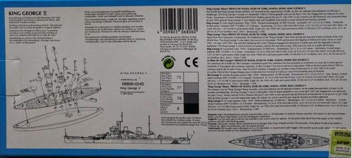 barco king george v revell miniships escala 1/1200