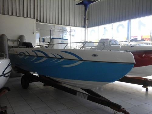barco / lancha fly fish 210 + 200 hp optimax
